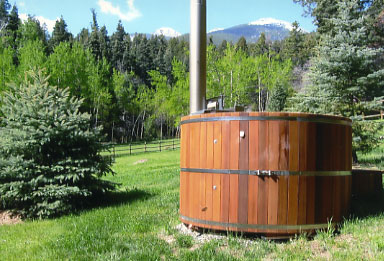 Wood Fired Handcrafted Maine Cedar Hot Tub