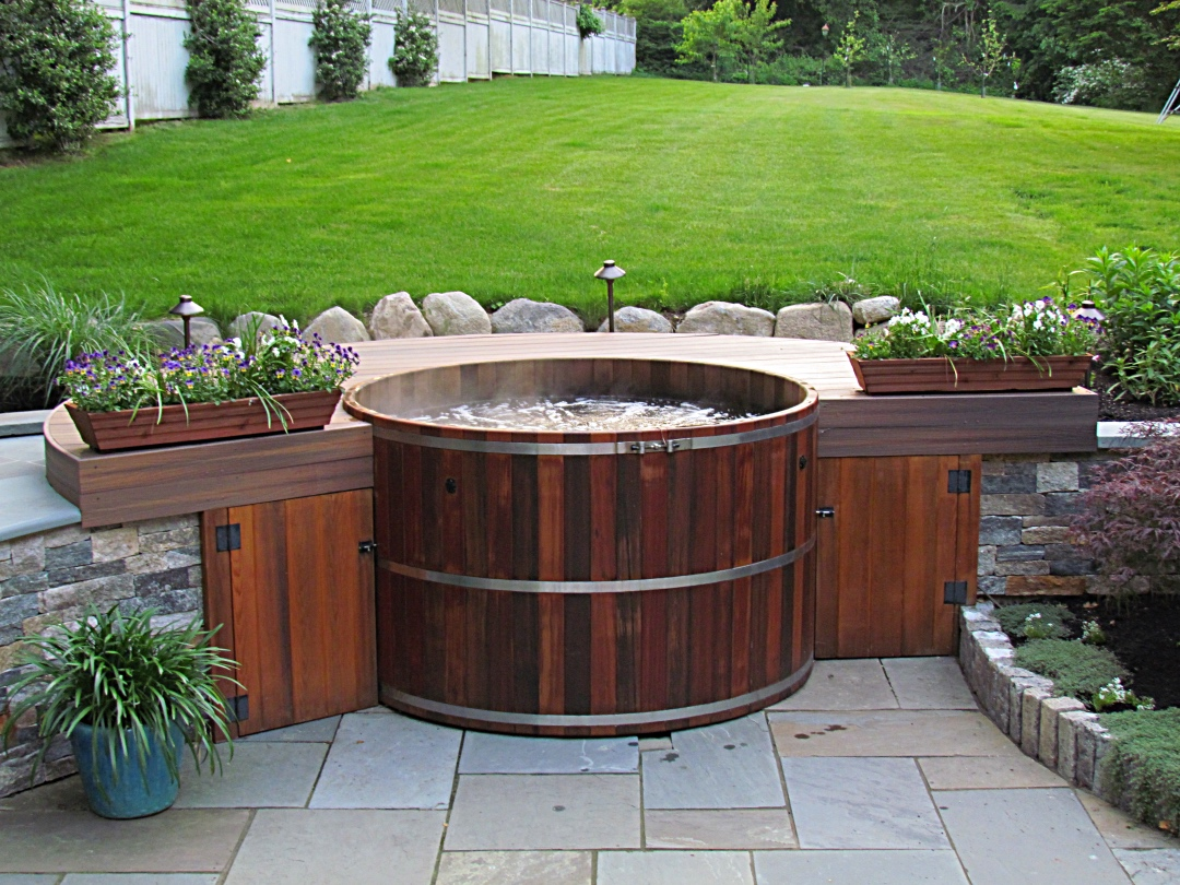 garden gazebo in for hot jacuzzi spa z lay impressive l barrel irvine turn tub into bathtubs good water